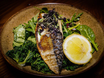 Grilled Mackerel Fillet Salad
